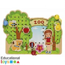Zoo Lacing Threading Game
