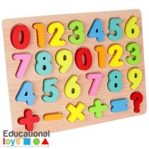 Chunky Number Wooden Puzzle Board
