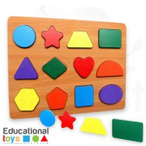 Chunky Shapes Wooden Puzzle Board