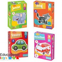 Two and Three Piece Jigsaw Puzzles for Toddlers