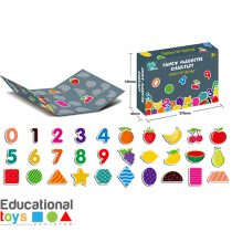 Magnetic Puzzle Chart Number Fruits and Shapes